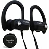 SpeakStick Flow Waterproof Bluetooth Headphones with 4.1 Bluetooth Technology for Running, Cycling, or Working Out. IPX7 Waterproof with Built In Microphone and 8 Hour Battery Noise Cancelling Earbuds