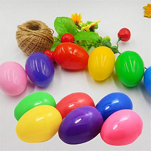 Party Diy Decorations - 12pcs Lot Mixed Color 40x60mm Easter Egg Decoration Home Kids Diy Craft Toys Gifts Empty Chocolate - Party Decorations Party Decorations Easter Plastic Cake Color H]()