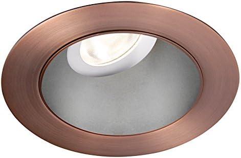 Brushed Nickel WAC Lighting HR3LEDT318PS840BN Tesla PRO 3.5 LED Round 0-30 Degree Adjustable Trim with Light Engine 4000K Narrow Beam
