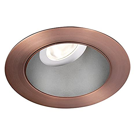 Copper Bronze WAC Lighting HR3LEDT318PS830CB Tesla PRO 3.5 LED Round 0-30 Degree Adjustable Trim with Light Engine 3000K Narrow Beam