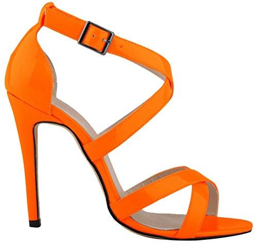 tacón con naranja mujer CFP Zapatos nY8wqOH1