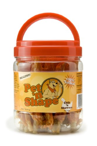 Beefeaters Chicken Tops (Pet 'n Shape Chik 'n Skewers Natural Dog Treats, 1-Pound Tub)