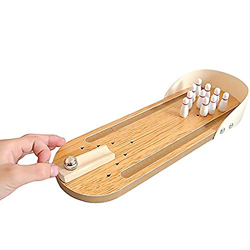 Indoor Wooden Mini Bowling Game Set - Best Family Party...