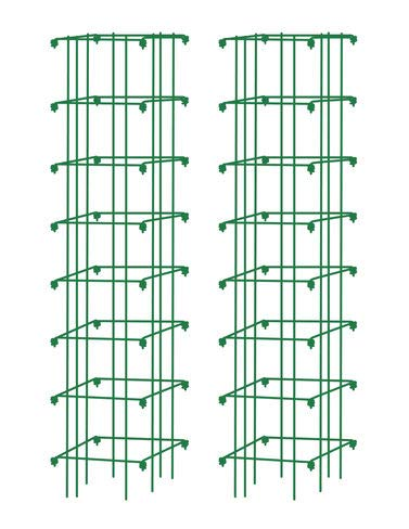 Gardener's Supply Company Square Heavy Gauge Extra Tall Tomato Cage, Set of 2 Green by Gardener's Supply Company