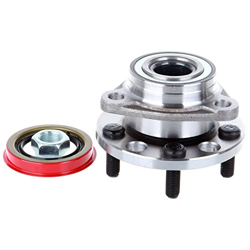 ECCPP Wheel Hub and Bearing Assembly Front 513017 fit Replacement for 1984-2005 Chevrolet Buick Cadillac Pontiac 5 Lugs Wheel Bearing Hubs without ABS 1 pcs (Cavalier 1 Pc)