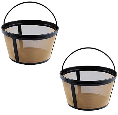 Cup 1 Filter Basket (Podoy Basket-Style Filter Reusable 8-12 Cup Coffee Gold Tone Permanent Coffee Filter for Mr. Coffee GTF2-1 (Pack of 2))