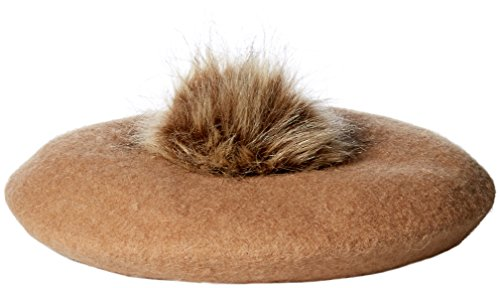Collection XIIX Women's Pom Beret Hat, Classic Camel, One Size