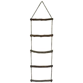 Melody Maison Colgador de toallas de cuerda estilo escalerilla: Amazon.es: Hogar
