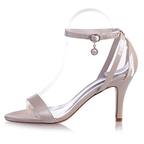 04 Et L amp; Peep Nuit Chaussures Hauts Nuit red Mariage De Toe Talons YC Satin Occasionnel Femmes 9920 Uqfx4wqF