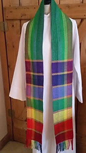 Marriage Equality/Rainbow Clergy Stoles by Ephods and Pomegranates Handwovens