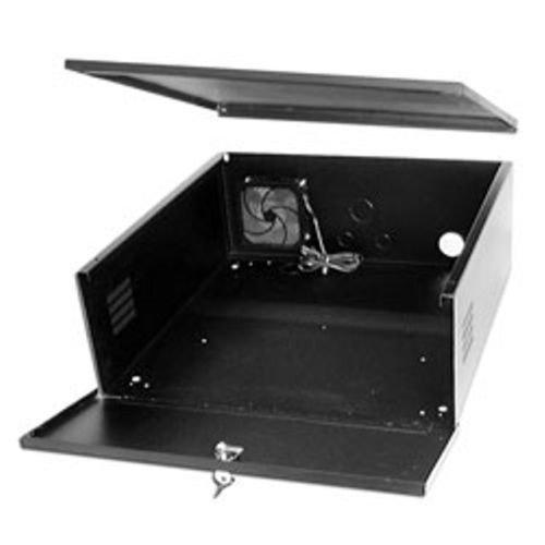 CCTV DVR Lockbox - 16 Gauge Steel Security DVR Lockbox with FAN (Large) (Security Dvr Lock Box)