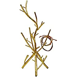 Creative Co-Op DA4374 Gold Metal Twig Jewelry Holder