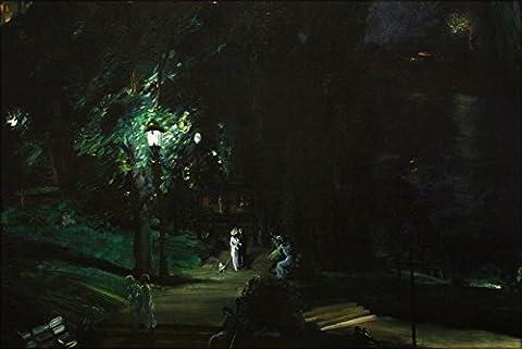 24x36 Poster; George Wesley Bellows - Summer Night, Riverside Drive (1909) - Riverside Drive