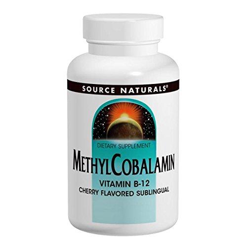 Source Naturals, MethylCobalamin, Cherry Flavored , 1 Milligram, 120 Lozenges