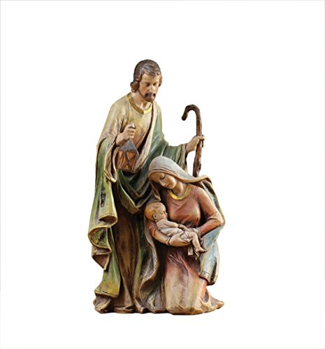 Joseph and Kneeling Mary Holding Jesus 15 inch Christmas Nativity Scene Figurine (Family Tree Of Mary Mother Of Jesus)
