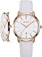 腕時計 レディース 超薄型 うで時計 時計 おしゃれ 防水 女性用 革ベル トブランド 革 アナログ 小さい シンプルな文字盤 が見やすい ファッション 薄い 薄型軽量 高校生 彼女へ 母の日 プレゼント watch for women OLEVS