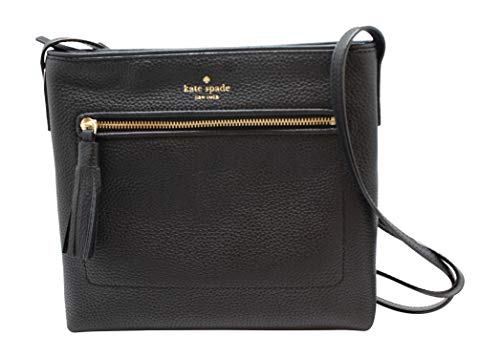 Kate Spade Striped Handbags - Kate Spade New York Chester Street Dessi Pebbled Leather Shoulder/Crossbody Bag (Black)