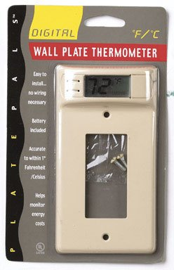 Wall Plate Thermometer Decora-style - Ivory