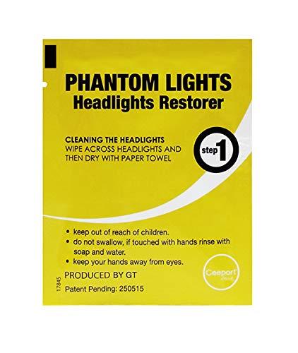 Ranco, Phantom Light, Headlight Restoration Wipes, Restore Kit for Automotive, Package 2 Wipes Phantom Lights