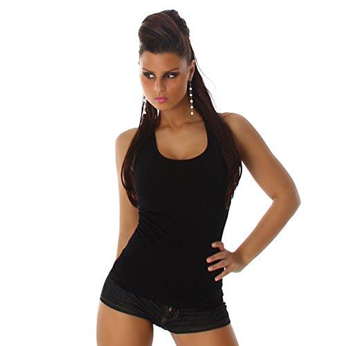 Power Flower - Camiseta sin mangas - Chaleco Top - Básico - para mujer negro