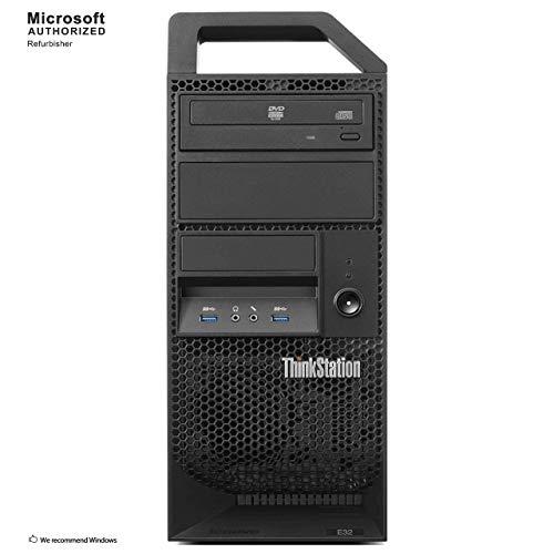 Lenovo ThinkStation E32 Tower Business PC, Intel Quad Core i7 4770 up to 3.9GHz, 16G DDR3, 512G SSD + 3T HDD, WiFi, BT 4.0, DVD, Windows 10 64-Multi-Language Support English/Spanish/French(Renewed)