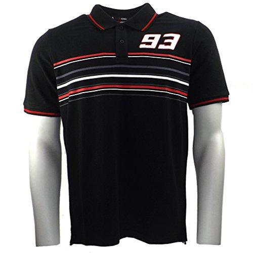 Marc Marquez 93 Streifen Moto GP Polo Shirt schwarz offizielle 2016