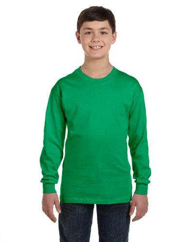 Gildan Heavy Cotton Youth Long-Sleeve T-Shirt, Irish Green,