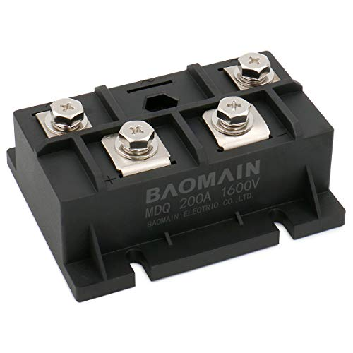 Baomain Bridge Rectifier MDQ-200A 200A 1600V Full Wave Diode Module Single Phase