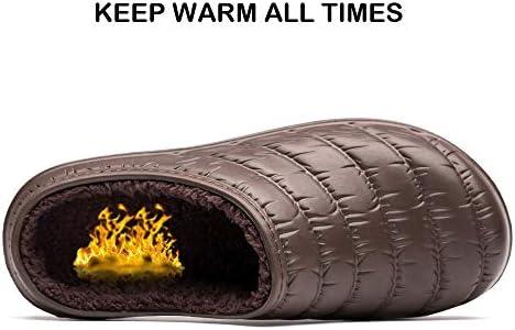 Miqieer Mens Women/'s Waterproof Memory Foam Slippers Slip-on Clog Scuff House Shoes Indoor /& Outdoor