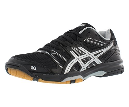 ASICS Women's Gel Rocket 7 Volley Ball Shoe,Black/Silver,7 M US