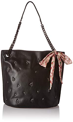 Betsey Johnson Best Buds Hobo Bag,  Black, One Size