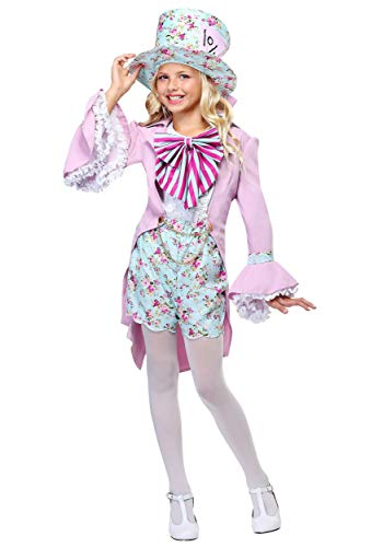 Pretty Wonderland Mad Hatter Girl's Floral Pastel