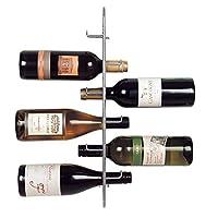JWP Ltd Navarra 6bottiglie di vino rack, argento