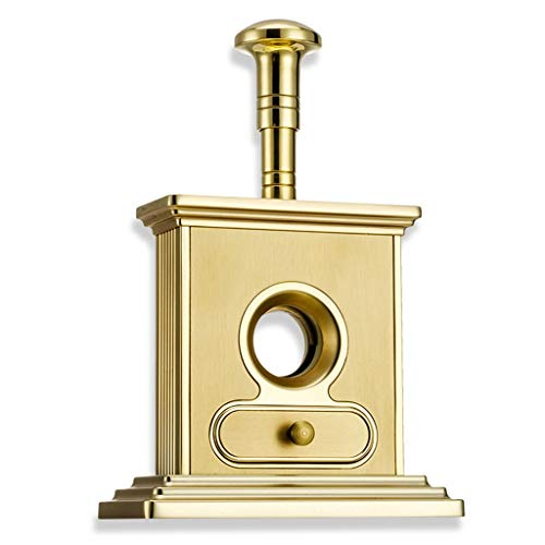 WMM- Cigar cutter Cigar Cutter Luxury Stainless Steel Table Top Cigar Guillotine Cigar Scissor for Most Size of Cigars (Color : Gold) by WMM- Cigar cutter (Image #4)