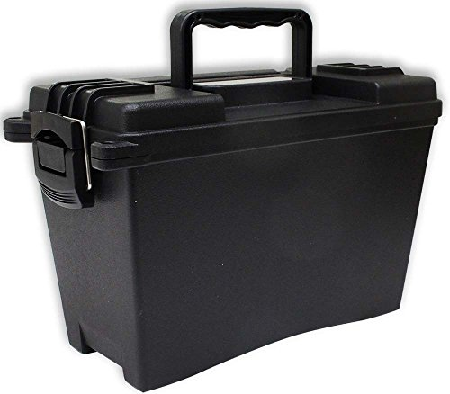 Stow-Away Black Plastic Storage Box - One Compartment - 12 Inches