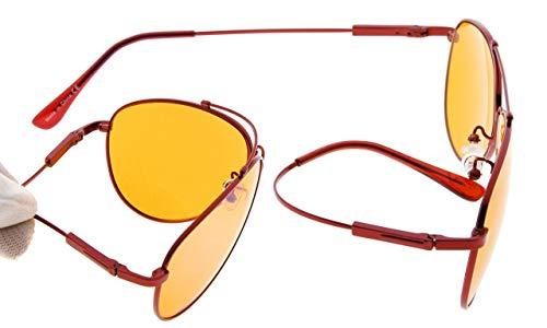 Memoria Bloqueo Marco Mujer Eyekepper Naranja Gafas Azul De Dormir nocturnas Gafas especial Para Rojo Tintado T77vqdw