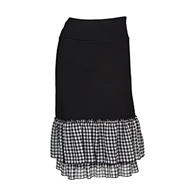Peekaboo-Chic Cottage Check Half Slip Skirt Extender