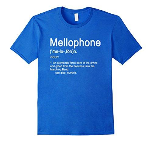Mens Mellophone Definition Marching Band Music Musician T-shirt 2XL Royal Blue