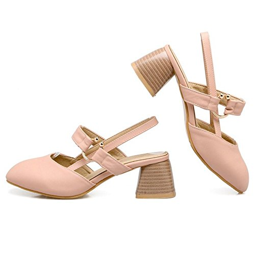 Pumps FizaiZifai Pink Women Block Heel R4qqw16xP