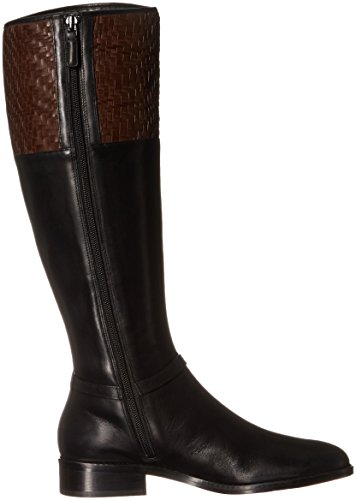 Riding Weave Weave Genevieve Women's Leather Cole Chestnut Boot Black Haan qwfII6S