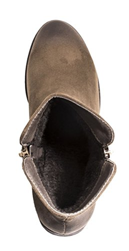 Elara Chelsea Boots   Bequeme Damen Stiefeletten   Lederoptik   chunkyrayan Dark Green