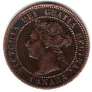 1901 Canada Large Cent Penny Coin KM#7