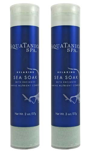 - Bath & Body Works Aquatanica Relaxing Sea Soak with Exclusive Marine Nutrient Complex Travel Size - Set of 2 - 2 oz each