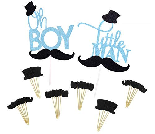 Sinrier Boy and Men Cake Cupcake Topper for Birthday Party Decoration]()