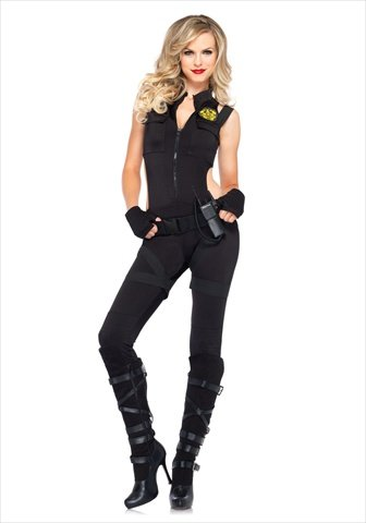 [SWAT Knockout Costume - Large - Dress Size 12-14] (Knock Out Costumes)
