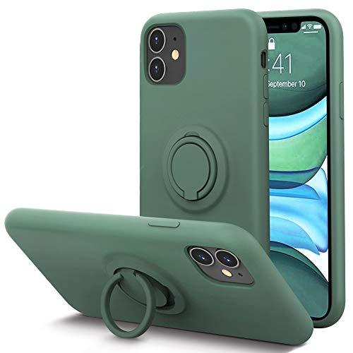 KUMEEK for iPhone 11 Case Fingerprint | Kickstand | Anti-Scratch | Microfiber Liner Shock Absorption Gel Rubber Full…