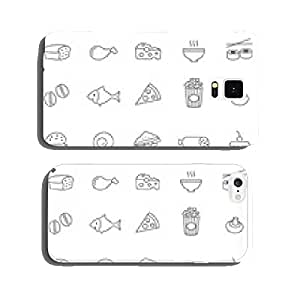 Food line icons set.Vector cell phone cover case iPhone5