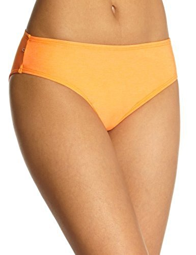 Fiber Solid Hip Hugger Bottom, Orange Flame, Medium ()