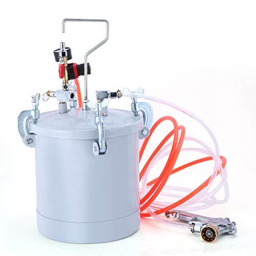 Simoner 10L High Pressure Pot Air Paint Spray Gun Set, 2 1/2 Gallon Industrial Painting Painter with Pressure Gauge Hose