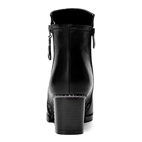 ZPL Grob mit der weiblichen Mode, high-Heel Stiefel Black